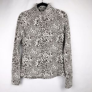 Lucy 1/4 Zip Pullover Animal Print -EUC